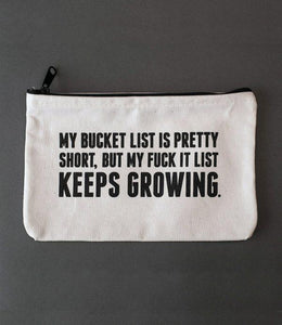 Sapling Press Bucket List Canvas Pouch