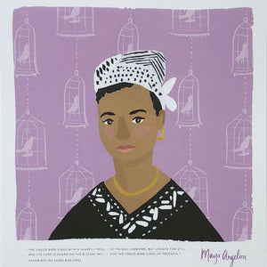 Ladies of Literature Maya Angelou Print