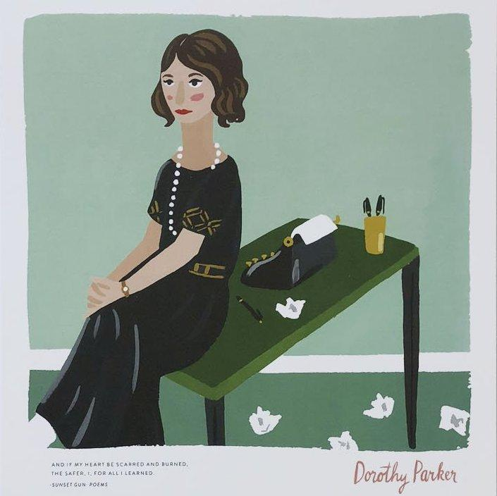 Ladies of Literature Dorothy Parker Print