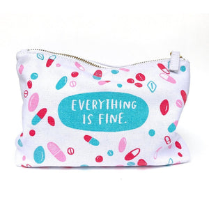 Emily McDowell Everything Is Fine Canvas Pouch