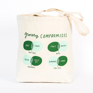 Grocery Compromises Tote Bag - Petals and Postings