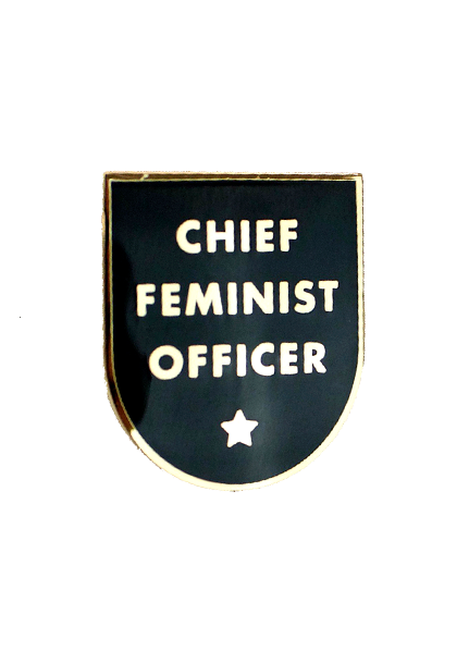 Seltzer Chief Feminist Officer Enamel Pin