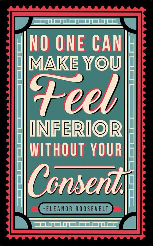 Lucy Lu Designs Eleanor Roosevelt Without Your Consent Quote Classic Tray