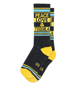 Gumball Poodle Peace, Love, and Tequila Gym Socks