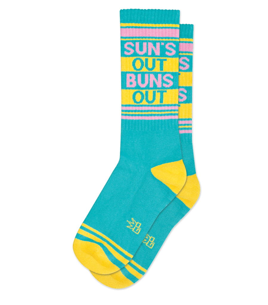 Gumball Poodle Sun's Out Buns Out Gym Socks