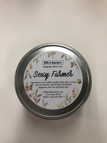 Milk and Quackers Sexy Farmer Shampoo Bar