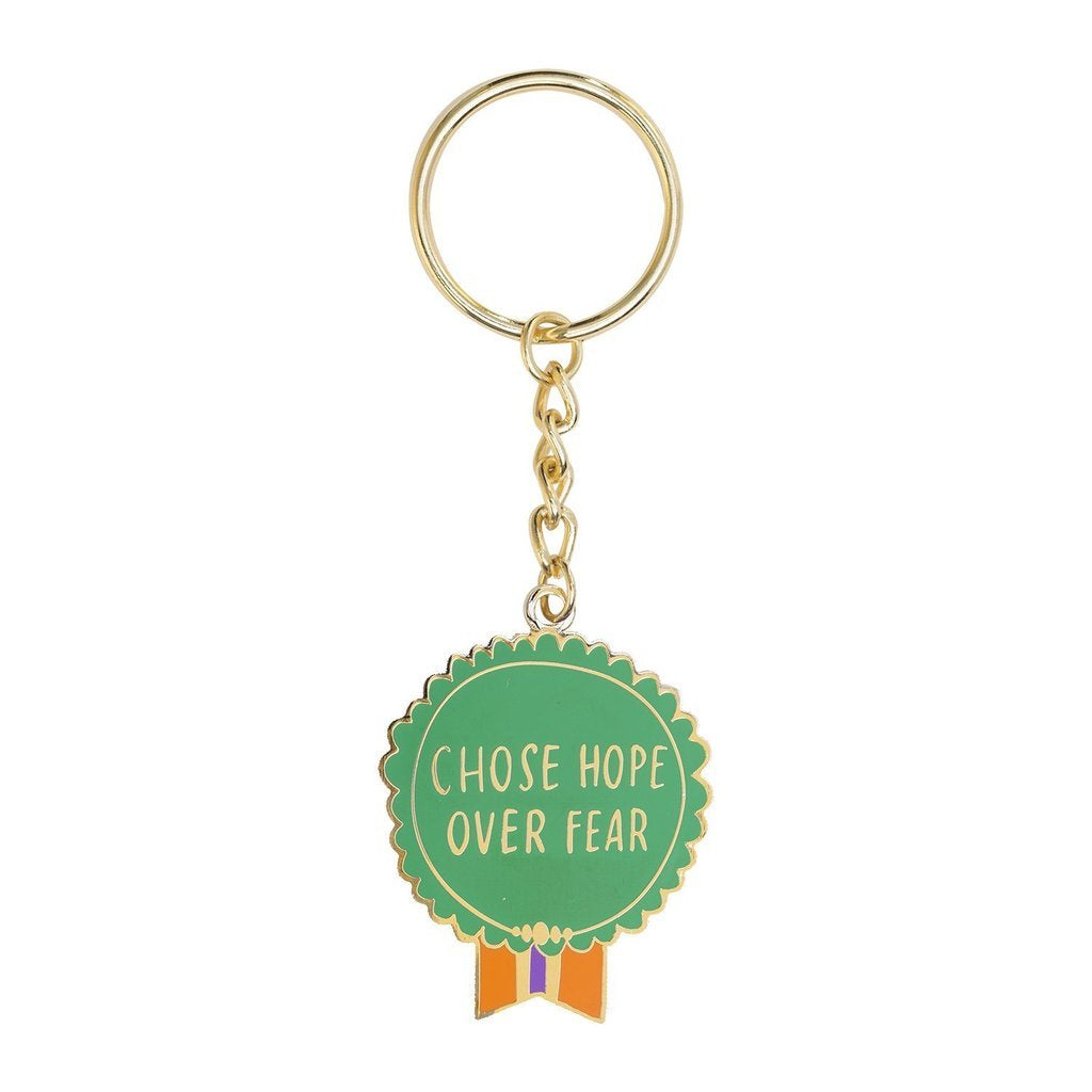 Emily McDowell Chose Hope Over Fear Keychain