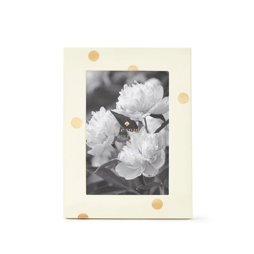 Kate Spade Gold Dot Lacquer Picture Frame