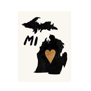 Michigan with Love Print - Petals and Postings