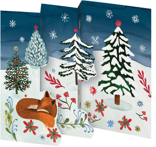 Roger la Borde Sleeping Fox Trifold Holiday Cards