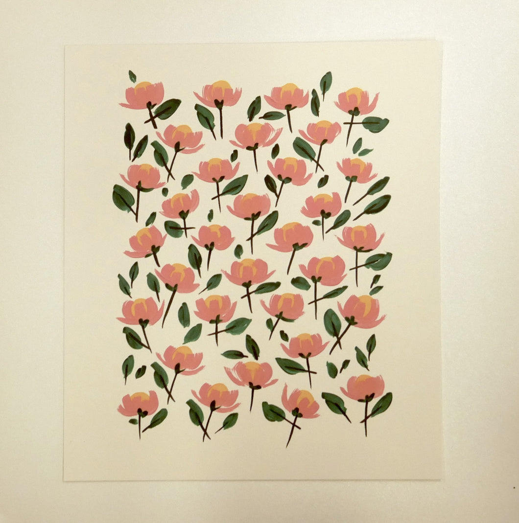 Contemporary Blossom Retro Contemporary Print