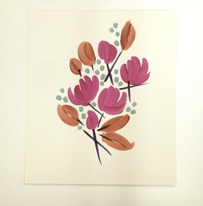 Contemporary Bouquet Retro Contemporary Print