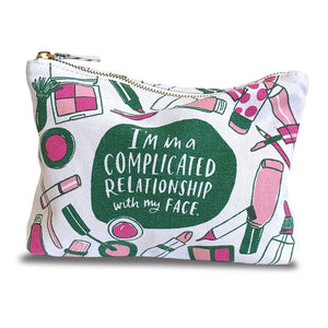 Emily McDowell Complicated Relationship Canvas Pouch