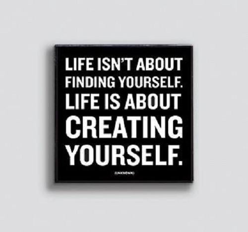 Create Yourself Enamel Pin by Quotable