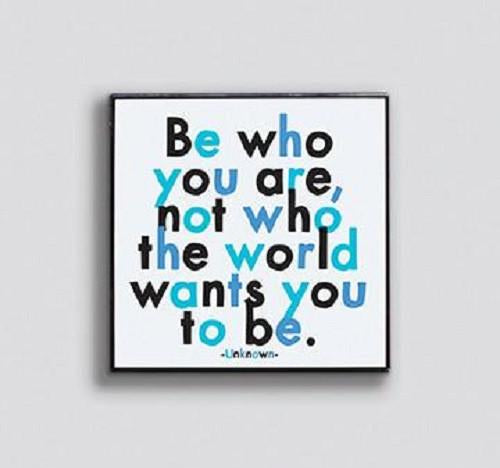 Be Who You Are Enamel Pin by Quotable