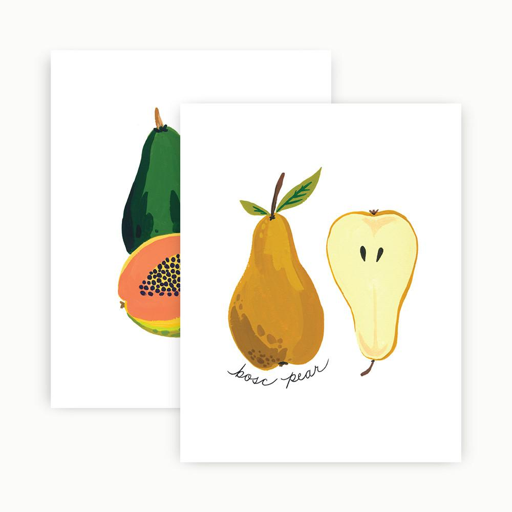 Fruits Gallery Wall Prints - Petals and Postings