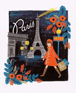 R. Paper Company Travel Paris Art Print 16x20