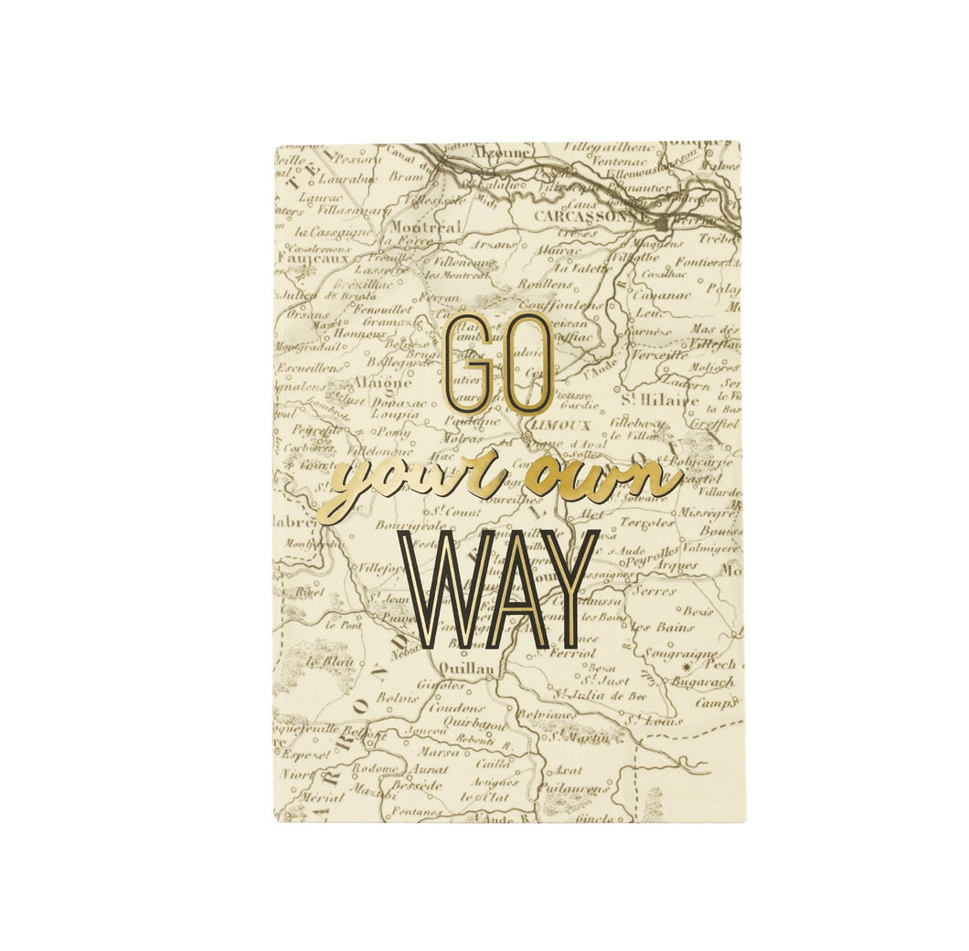 Eccolo Go Your Own Way Hardcover Journal