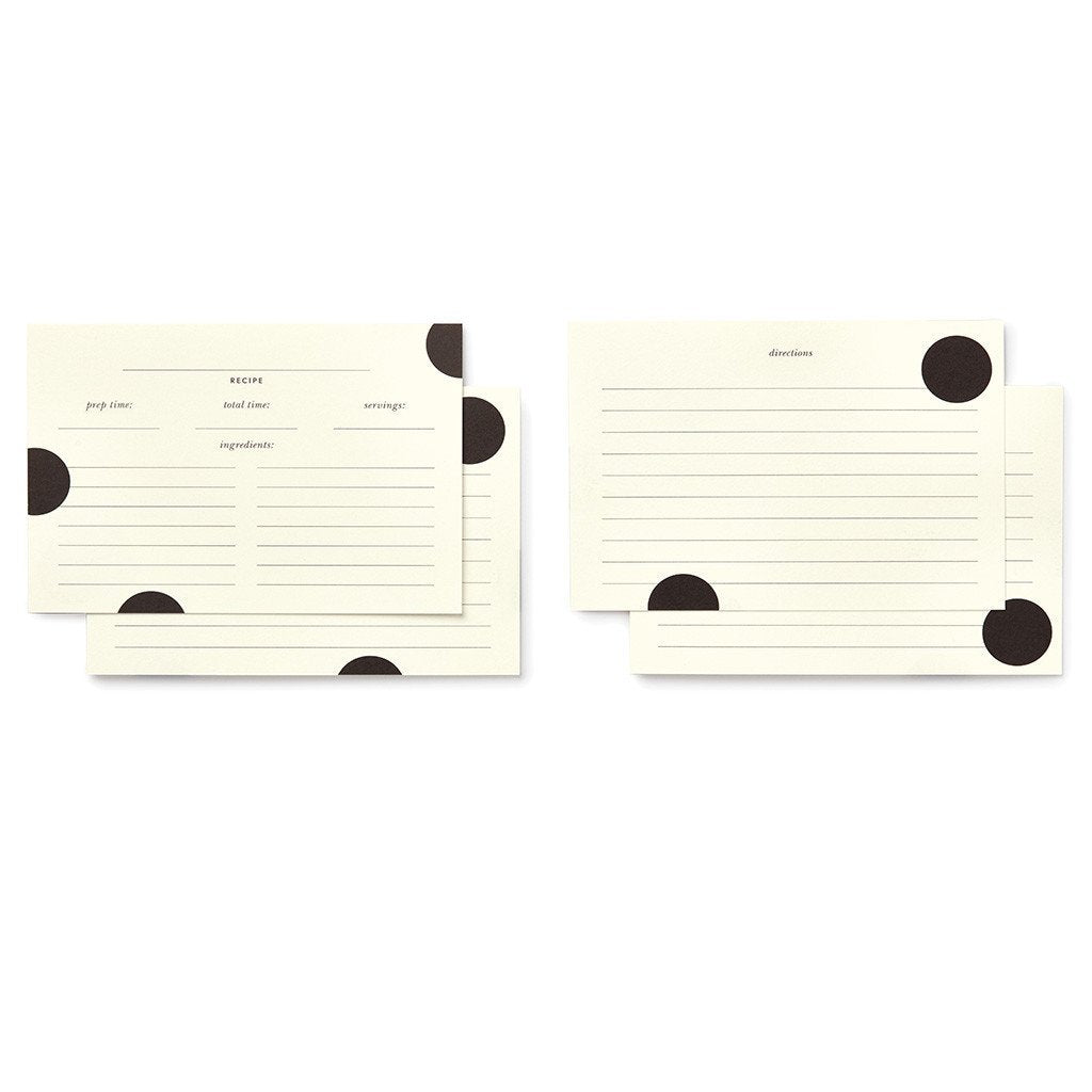 Kate Spade Deco Dot Recipe Cards - Petals and Postings