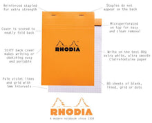 Load image into Gallery viewer, Rhodia Black no. 16 Lined Notepad