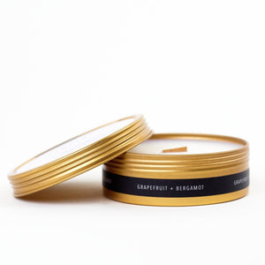 Simply Curated Grapefruit and Bergamot Travel Candle
