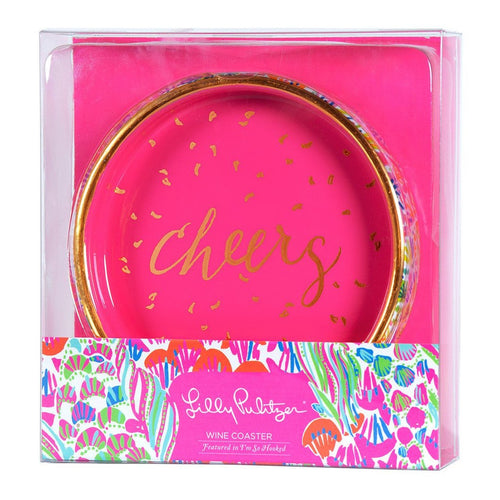 Lilly Pulizter I'm So Hooked Wine Coaster
