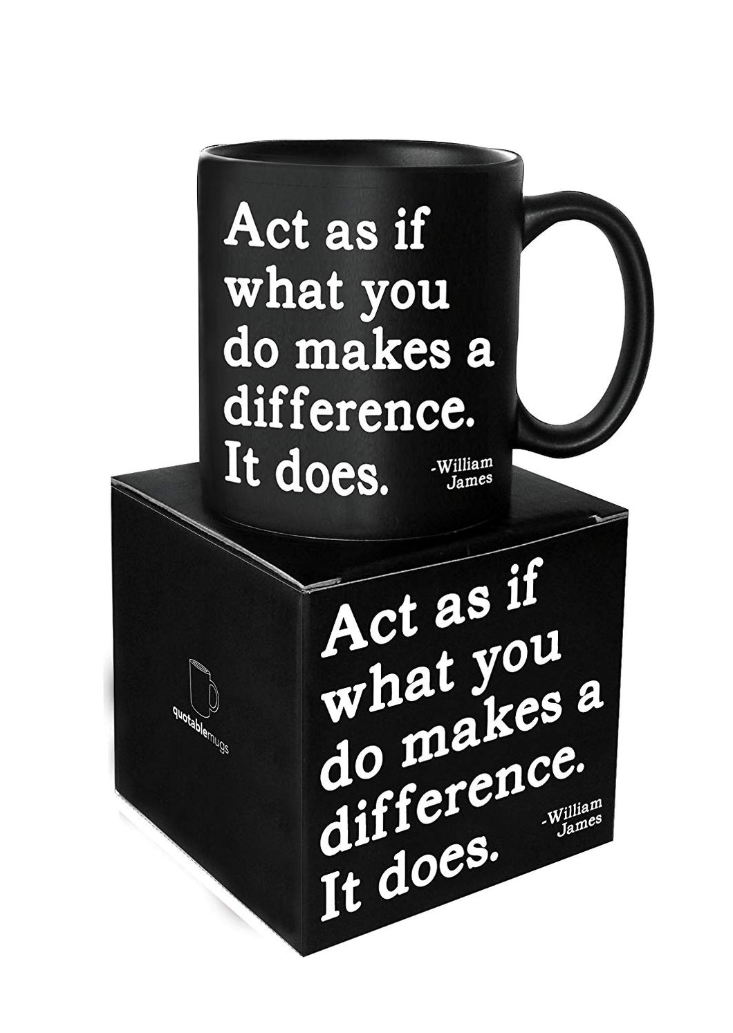 Quotable What You Do Makes A Difference Ceramic Mug