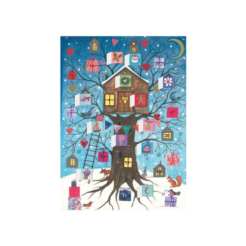 Roger la Borde Tree House Advent Calendar Holiday Cards