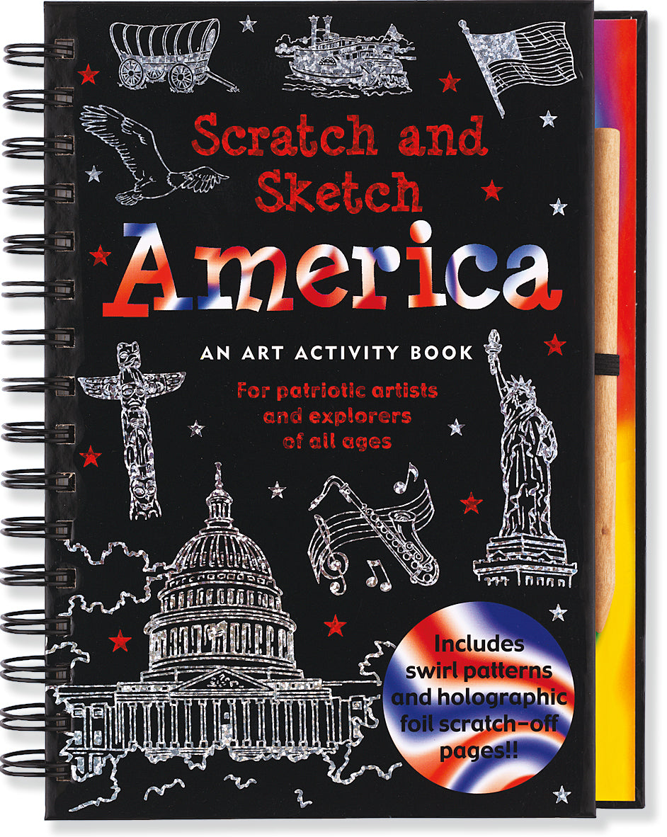 Peter Pauper Press Trace - Along Scratch and Sketch America