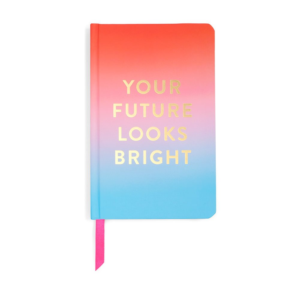 Your Future Looks Bright Hardcover Notebook - Petals and Postings