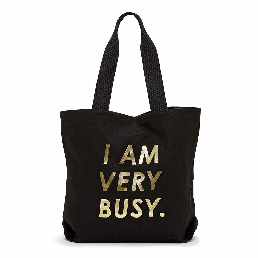 Ban.do I Am Very Busy Canvas Tote Bag