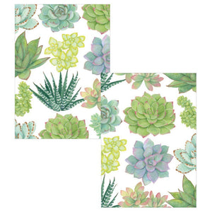 Caspari Assorted Boxed Note Cards (8)  - Succulents