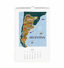 Load image into Gallery viewer, Rifle Paper Co. 2018 Maps of the World Wall Calendar