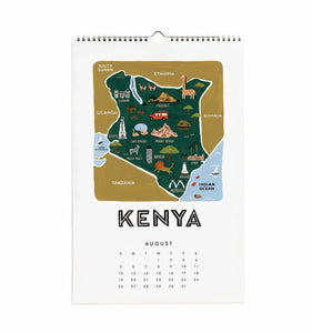 Rifle Paper Co. 2018 Maps of the World Wall Calendar