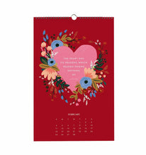 Load image into Gallery viewer, Rifle Paper Co. 2018 Inspirational Quotes Wall Calendar