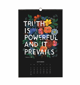 Rifle Paper Co. 2018 Inspirational Quotes Wall Calendar
