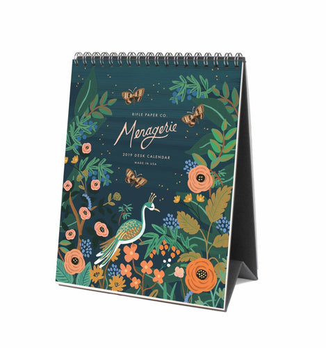 Rifle Paper Co. Midnight Menagerie 2019 Desk Calendar