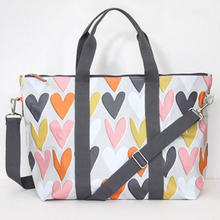 Load image into Gallery viewer, Caroline Gardner Ditsy Hearts Foldable Weekend Bag