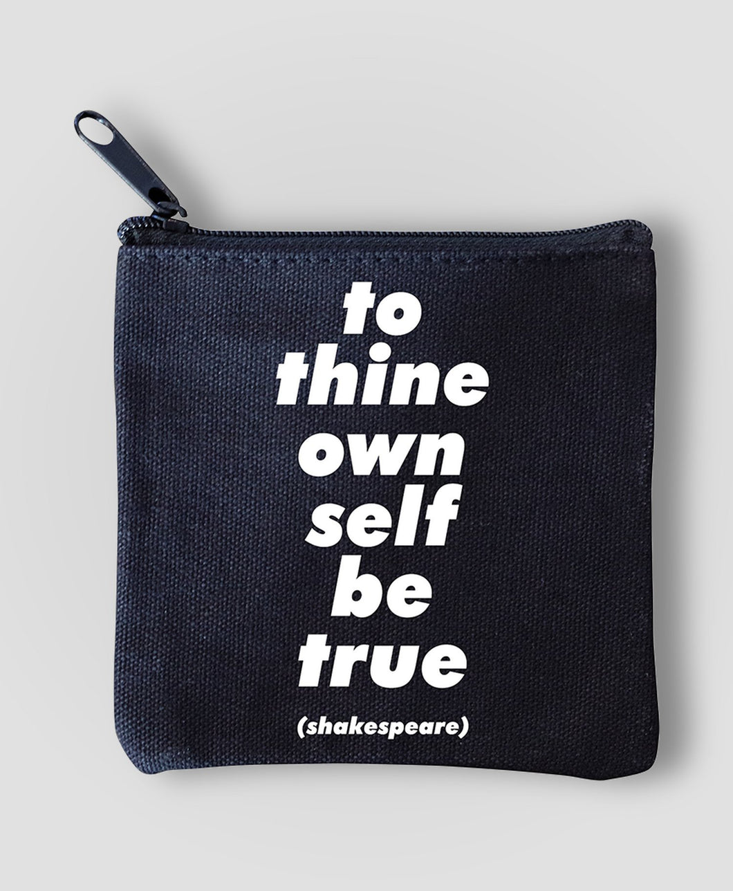 Quotable To Thine Own Self Mini Pouch
