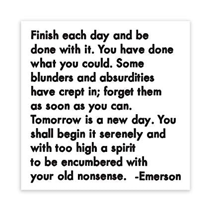 Quotable Finish Each Day Magnet