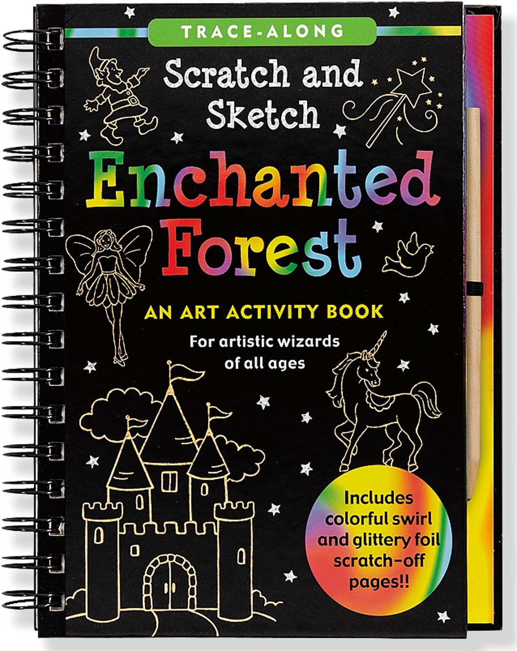 Peter Pauper Press Trace - Along Scratch and Sketch Enchanted Forest