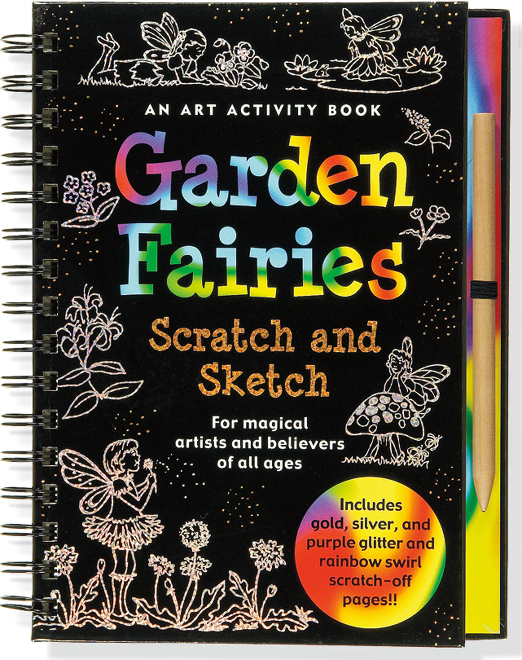 Peter Pauper Press Trace - Along Scratch and Sketch Garden Fairies