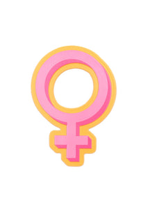 Female Symbol Retro Rubber Magnet