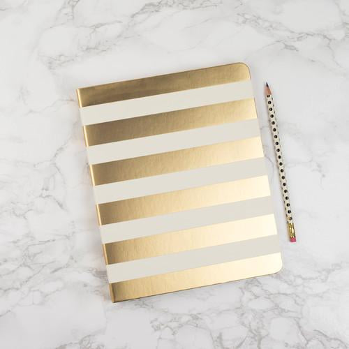 Kate Spade Gold Stripe Spiral Notebook