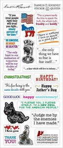 Franklin D. Roosevelt Greeting Card with Quote Stickers