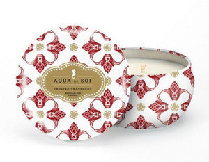Aqua De Soi Frosted Cranberry Natural Soy Candle
