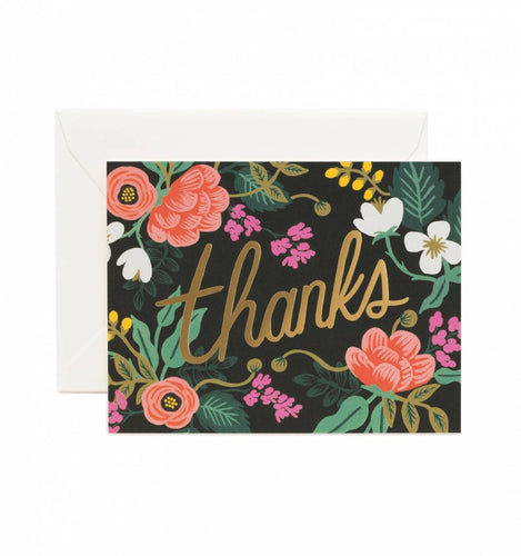Rifle Paper Co. Birch Floral Thank You Card Set - Petals and Postings