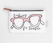 Load image into Gallery viewer, Caroline Gardner Looking For Trouble Glasses Case