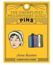 Load image into Gallery viewer, Unemployed Philosophers Guild Jane Austen Enamel Pins