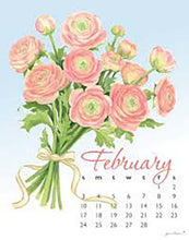 Load image into Gallery viewer, Calendar by Janine Moore - Flowers '19 - 5x7 Spiral Desk Calendar